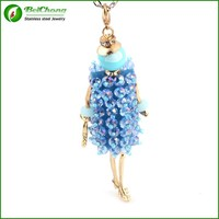 High quality alibaba sex blue pendant doll pendant necklace AN-0022