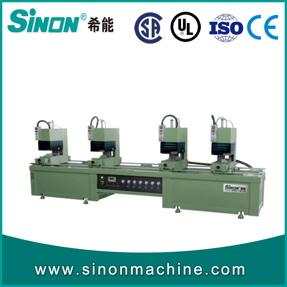 double heads seamless welding machine for colored pvc profile