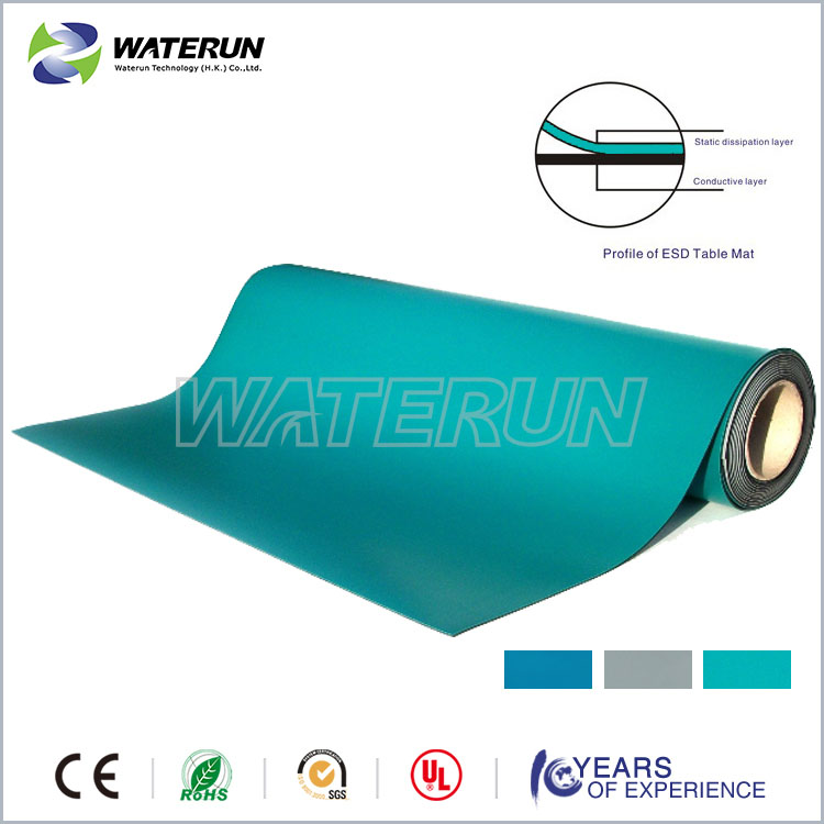 High quanlity ESD table mat, rubber mat,antistatic table mat manufacturer