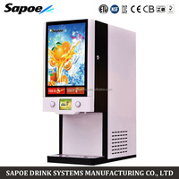 Sapoe LCD touch screen operation commercial post mix concentrated fruit juice dispenser