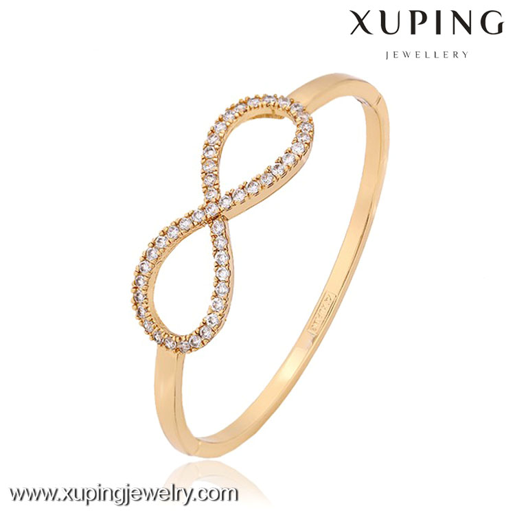 51076- Xuping latest design 10 gram gold bangles price on line