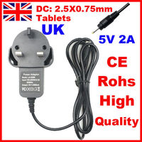 UK 5V 2A CE Rohs Approved Wall Charger for 7 inch Ployer MOMO9 III IV MOMO9P MOMO9HD Android Tablet PC