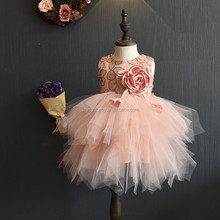 tulle party 2016 new design fashion baby dress