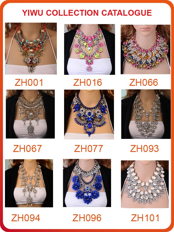 Mixed order available statement necklace 2017,wholesale fashion ...