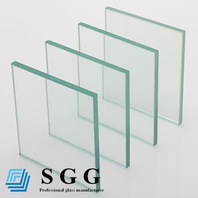 Clear laminated glass 2140x3300mm, thickness 6.38mm, 8.38mm, 10.38mm, 12.38mm