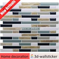 Cheap sale easy mosaic design resin self adhesive wallpaper for kids room decal