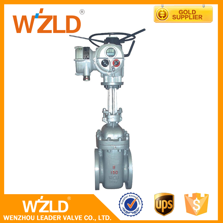 WZLD Factory Prices 4 Inch Water Oil Petrol Medium Electric Control Stem Gate Valve