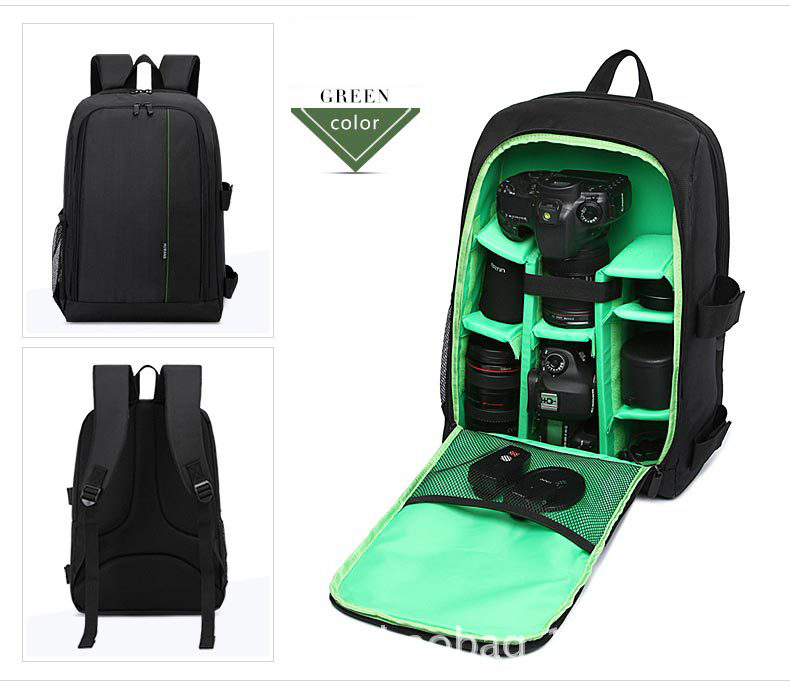 Hot selling outdoor multifunctional detachable camera bag  travel video waterproof digital camera bag backpack