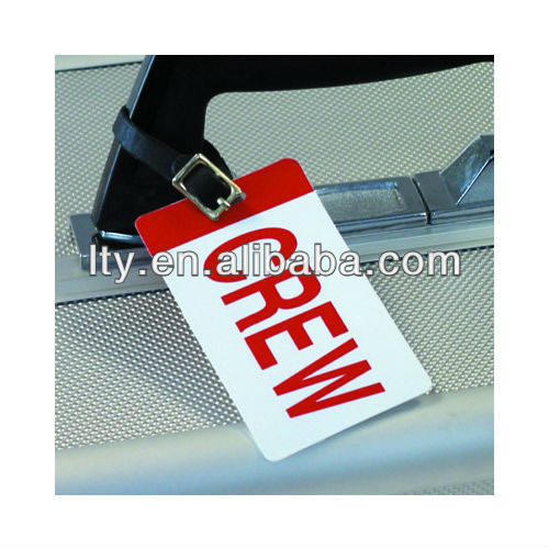 wholesale crew leather strap luggage tag(M-PT136)