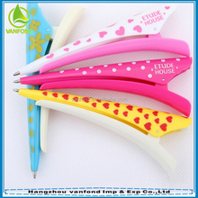 Promotional pen design to in hair/hairy pen for girls