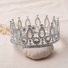 Custom Crystal Diamante full round Contoured Tall Pageant Crowns and Tiaras
