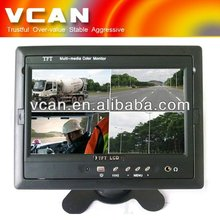 Quad image 7 inch car TFT LCD input review camera monitor TM-7003Q