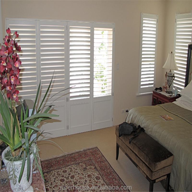 PVC foam material window shutters interior wood