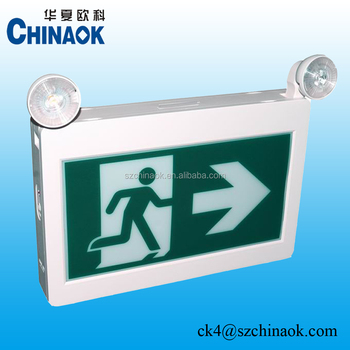 CET-180 CUL CSA Twin Spot LED Rechargeable Running Man Exit Sign