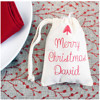 Wholesale China supplier 2016 christmas santa sack polyester cotton mini gift bag