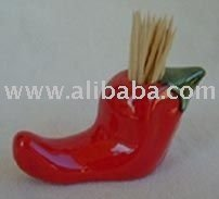 Ceramic Chili Toothpick Holder