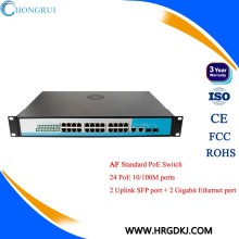 48V network extender 24 port poe switch for ip camera