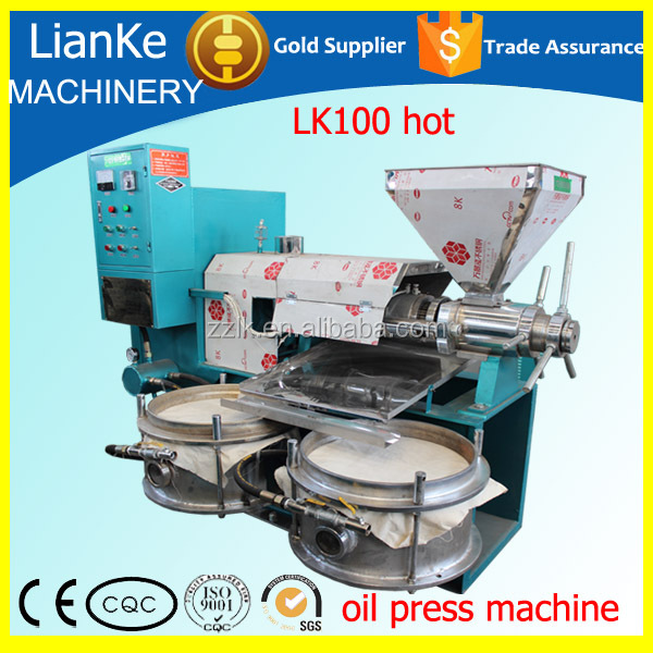 LK100 Finely Processed Reliable Performance mini peanut oil mill plant/soybean oil extraction machine