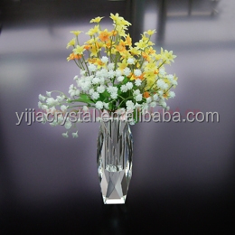 Small Wholesale Bohemi Flower Crystal Vase