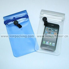 Mobile phone waterproof pouch for iphone 5 for promotion