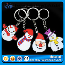 simple cheap christmas gifts keyring unique snow men keychain for christmas