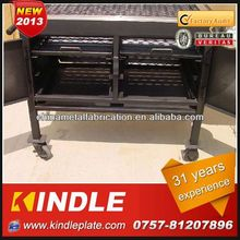 Professional Custom rectangular charcoal grill bbq