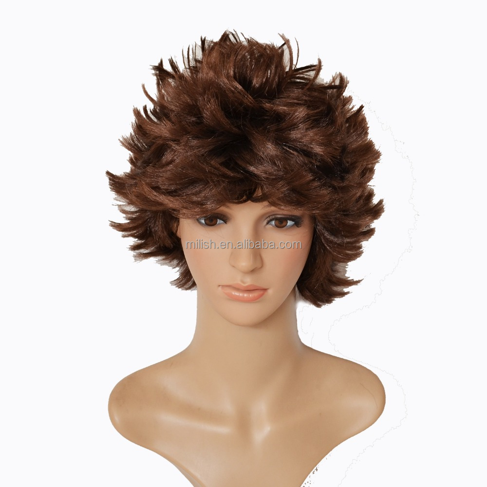 MPW-0007 carnival halloween men party caveman wig