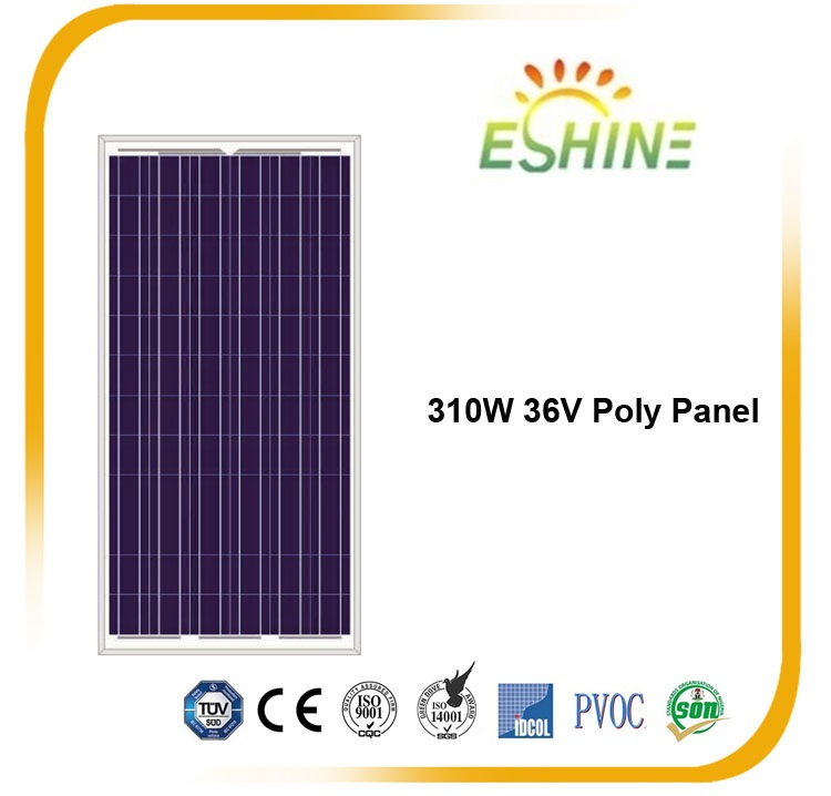 High Efficiency 310w Polycrystalline Solar Panel Price India for Stock Solar Panel