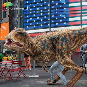 Real mechanical life-size t-rex dinosaur life size dinosaur costume