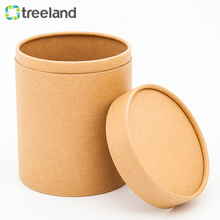 Kraft Paper Box Packaging Round Shape Cylinder Cardboard Can