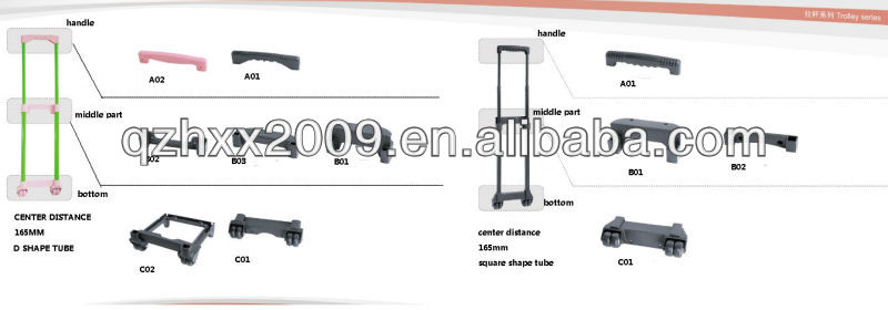 Trolleys accessories trolly pull rod parts travel bag parts
