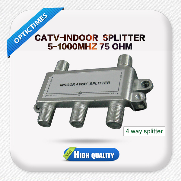 China manufacture CATV indoor 4 way 5-1000MHZ splitter for cable tv