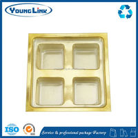 flocking thermoformed plastic tray