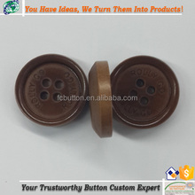 4 Holes Custom Laser Engraved Wood Buttons For Garments Accessories Crafts Decoration