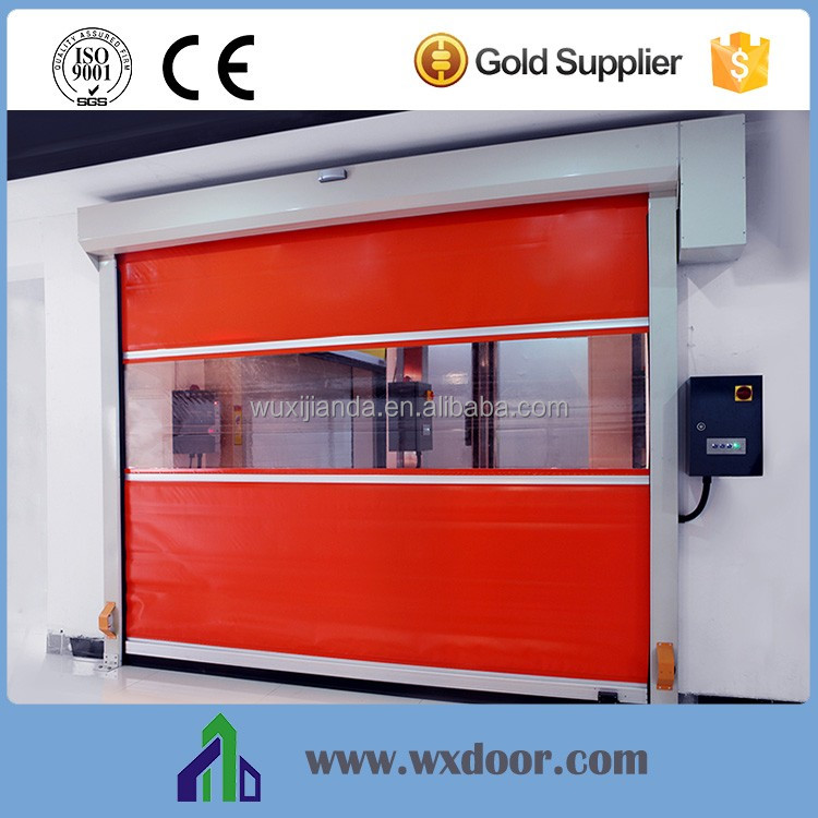 Low Noise Remote Control Galvanized Steel Imported Fabric High Speed Roll Up Door