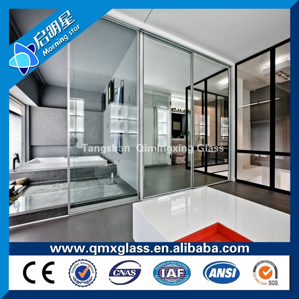 edge grinding drilling clear toughened glass door