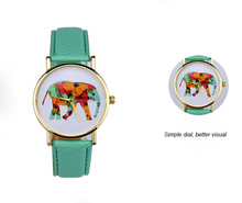 Custom fancy colorful fashion leather women watch,japan movt watch,wrist lady watch
