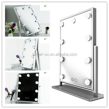 Low Price Fashional design Vanity Girl Hollywood Makeup Mirror with LED lights
