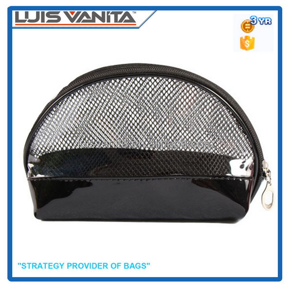 Mesh Cosmetic Bag PVC Cosmetic Bag Black Cosmetic Bag