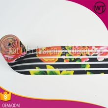 Wholesale garment accessory webbing custom woven jacquard printed elastic tape band for decorative garment