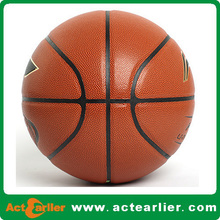 top quality pu leather laminated basket ball size 3