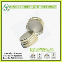 China factory aluminium Screw cap with knurling