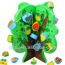 2013 best selling wooden string beads 3D puzzle DIY toy