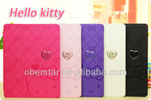 New For Apple iPad 5 Lovely Knot Hello Kitty PU Leather Stand Cover Case