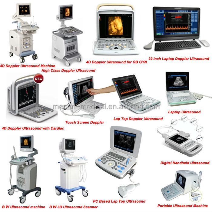 "MC-DU-i7 19"" Rotating LCD Screen Color Doppler Cardiovascular Ultrasound"