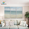 Beach Seasight Triptych Canvas Art without Framed Seascape Theme