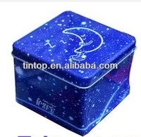 Dongguan made square tin /empty design Tin case / promotional tinplate pet food case