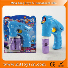 Electric solid color and 1 light space bubble shooter gun toy