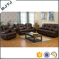 BJTJ brown modern l shape sectional recliner leather sofa sets 70636