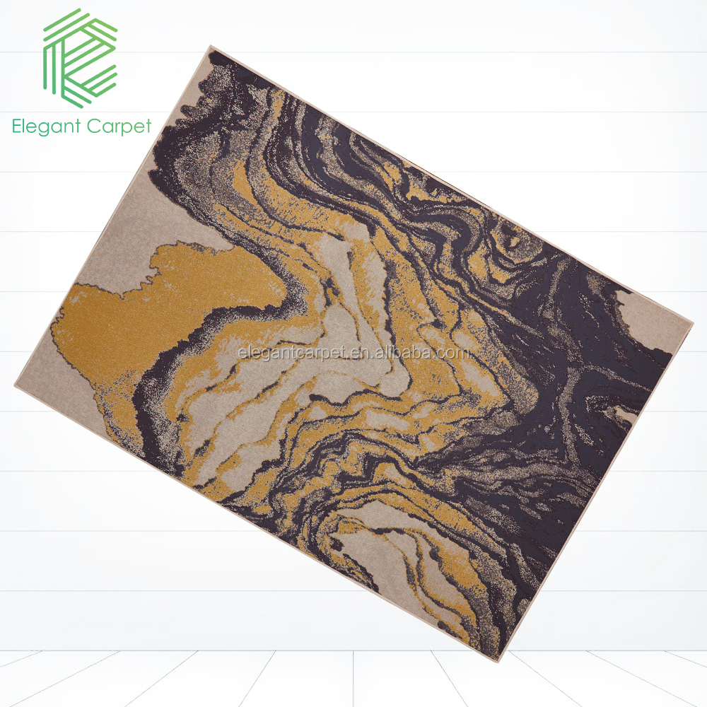 Modern Design Abstract Printed Polyester rug